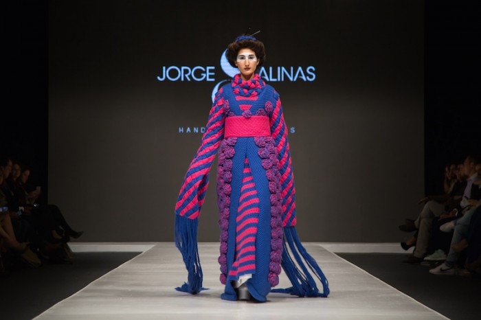 purple kimono in Jorge Salinas fashion show