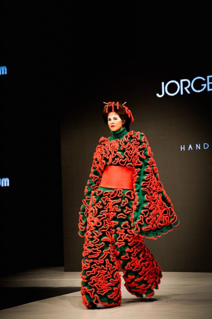 pink kimono in Jorge Salinas fashion show