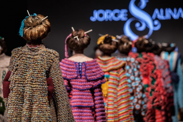 Jorge Salinas fashion show of kimono finale back view