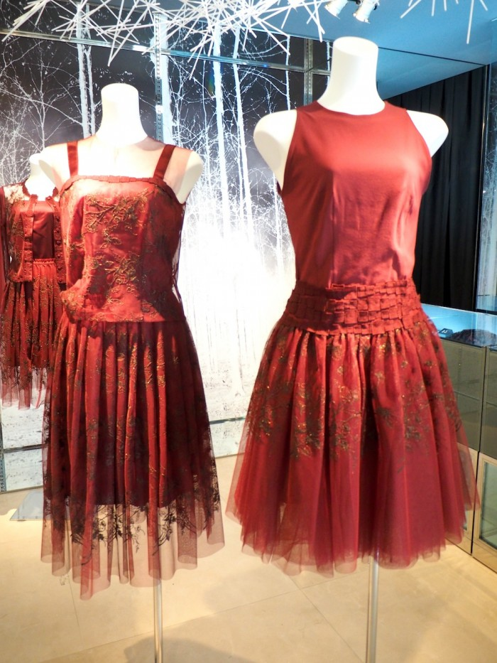 red dresses by Japanese lingerie brand Wacoal DIA for 2015