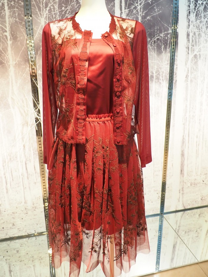 embroidered dress by Japanese lingerie brand Wacoal DIA for 2015