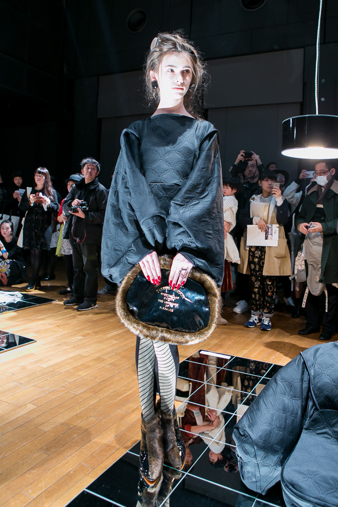 model at theatre products aw 2015 fashion show