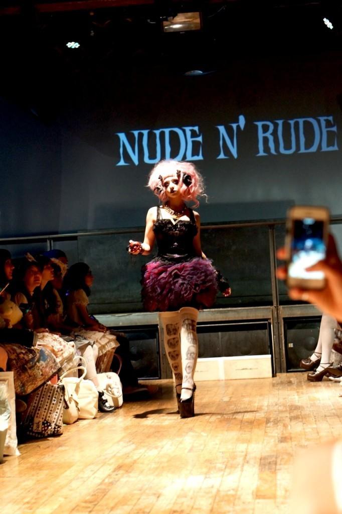 model in tokyo-above-underground-fashion nude n rude