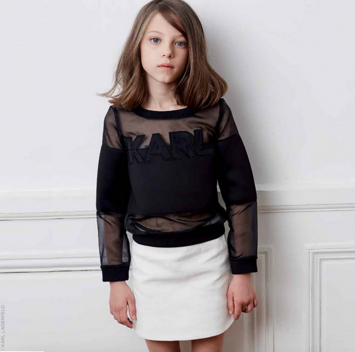 Karl Lagerfeld kids for Melijoe sporty top