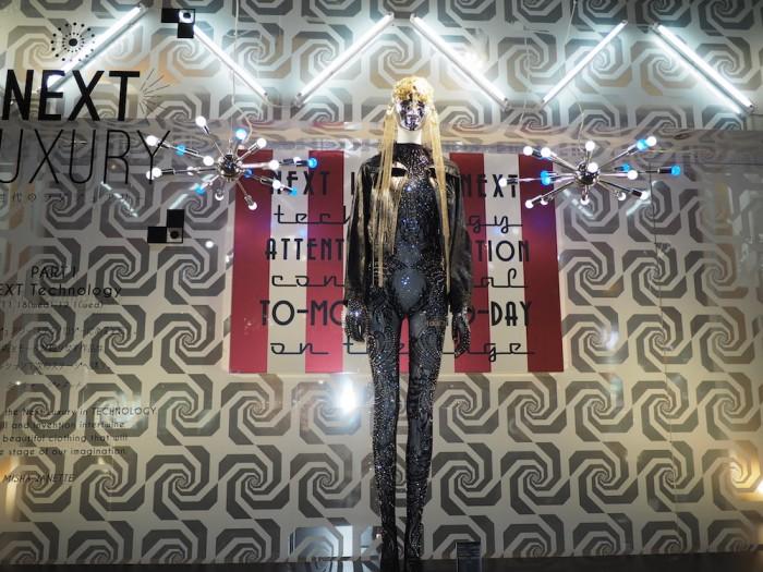 Next Luxury Japanese Fashion Brand window display at Daimaru
