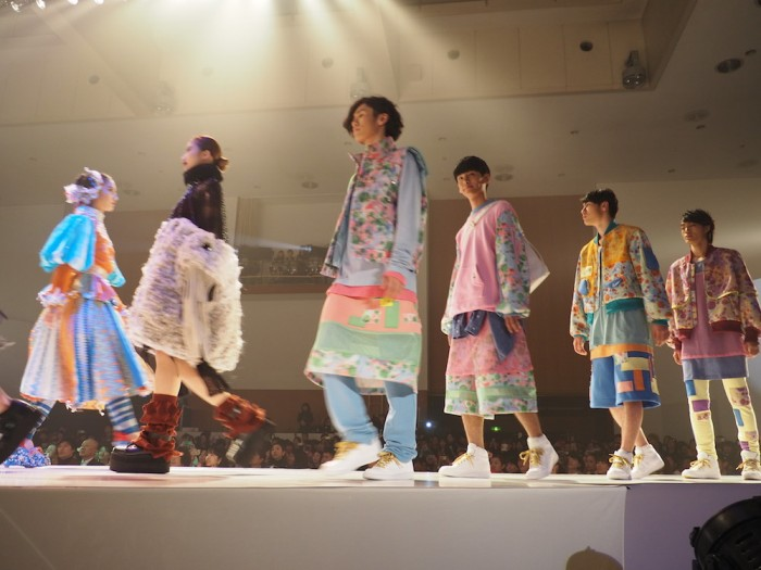 Models at Bunka Fashion College in Tokyo