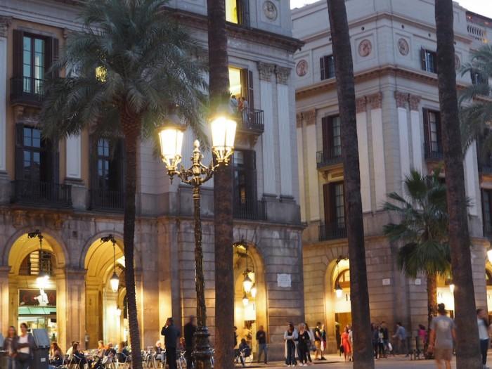 City square in Barcelona