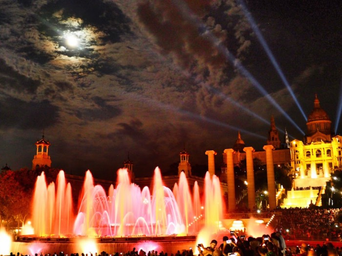 The magic fountain in barcelona