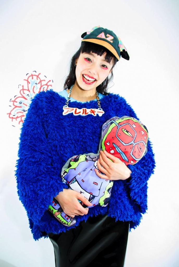 model wears lactose intolerart by brandon reierson