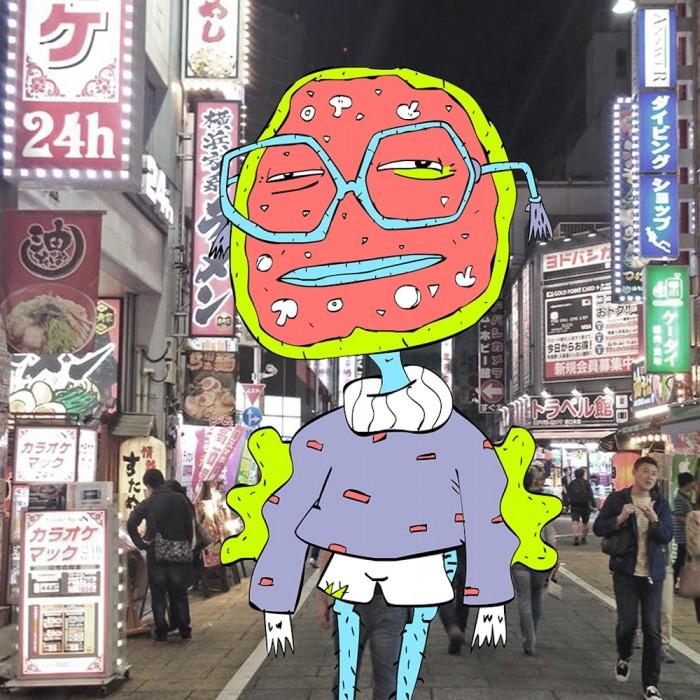 lactose intolerart tokyo illustration by brandon reierson