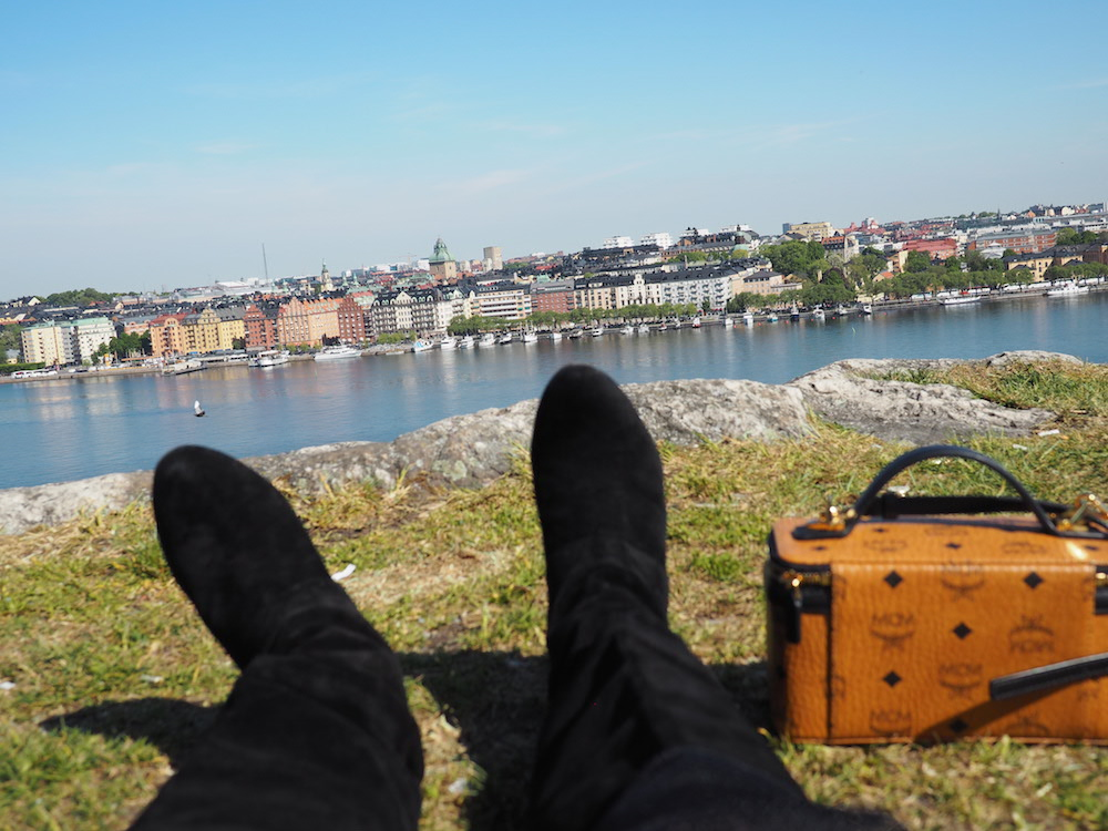 peering out over stockholm