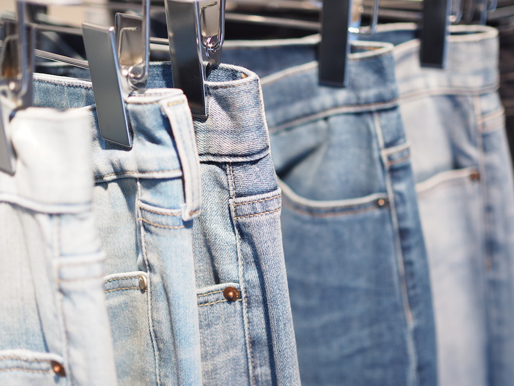 jeans on display at Tokyo SS lifewear exhibit 2017