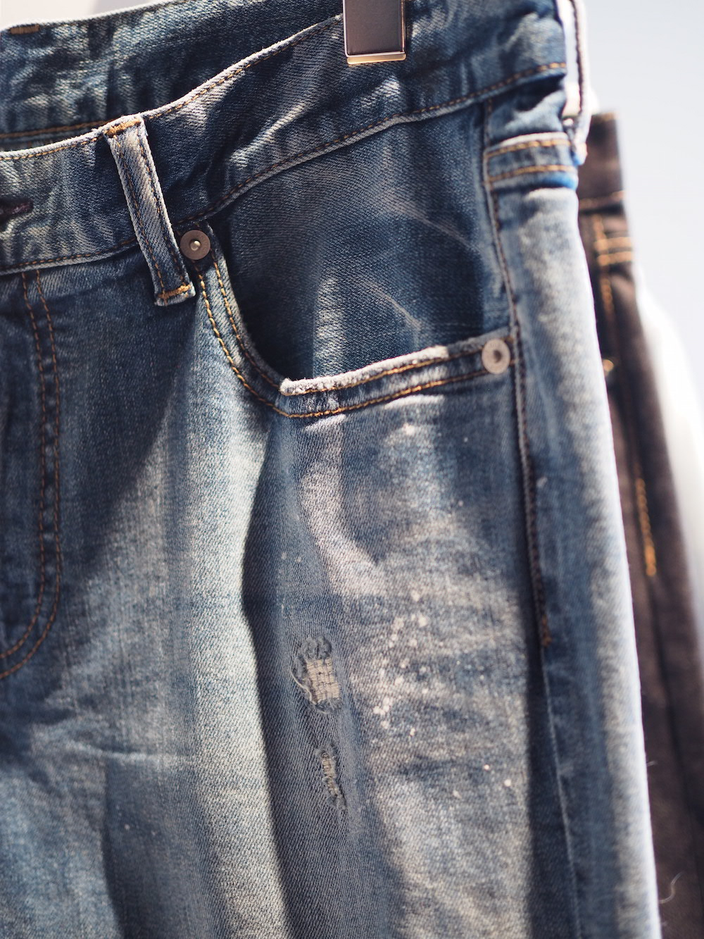 denim damage finishing on display at Tokyo SS lifewear exhibit 2017