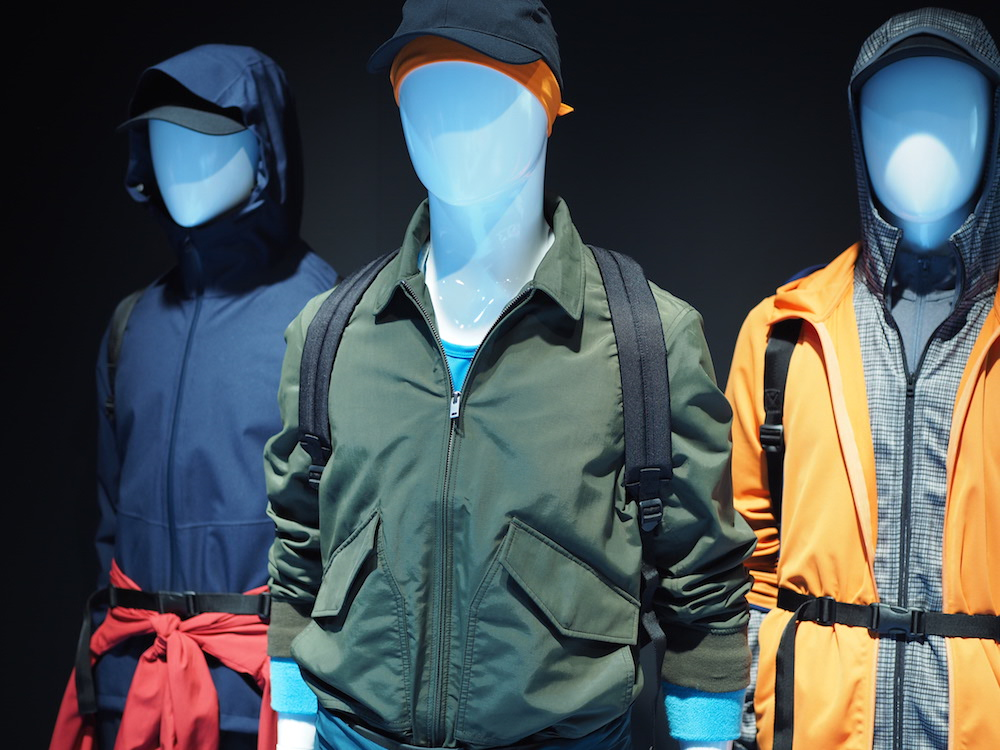 meanswear uniqlo sports on display at Uniqlo Lifewear 20177 SS exhibit in Tokyo
