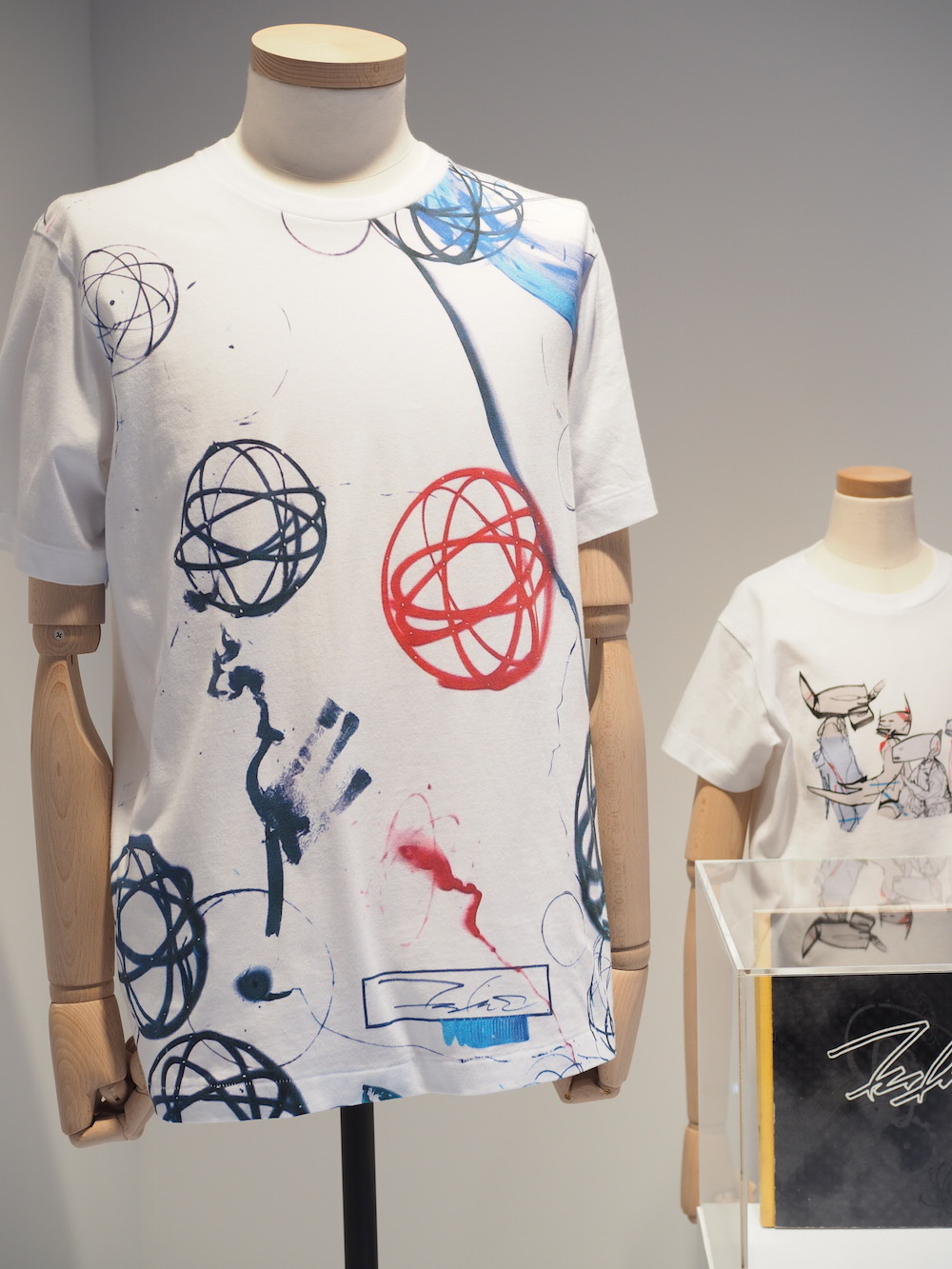 artistic UT T-shirt designs on display at Uniqlo Lifewear 2017 SS exhibit in Tokyo