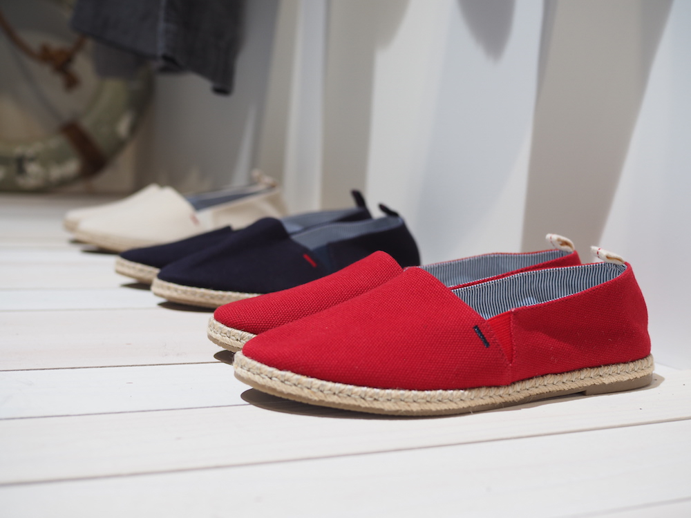 shoes by Ines de la Fressange designs on display at Uniqlo Lifewear 2017 SS exhibit in Tokyo