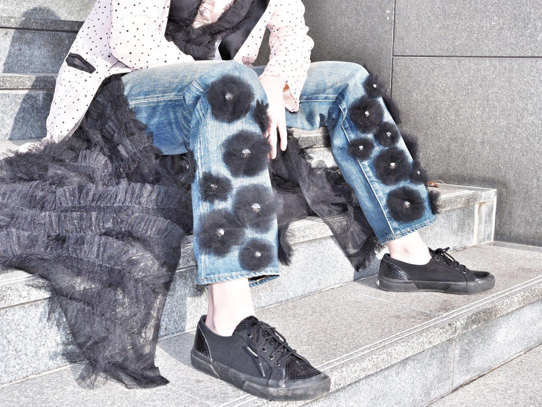 misha janette in tu es mon tresor tulle flower jeans